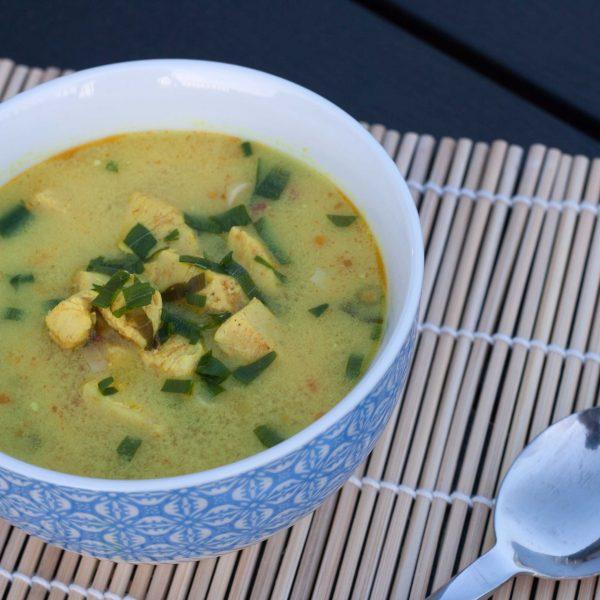 Creamy Thai Soup with Ginger, Chili and Garlic (Tom Kha Gai)