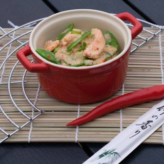 Salmon in Creamy Red Curry Sauce