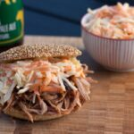 Pulled Pork with Burger Buns and Coleslaw