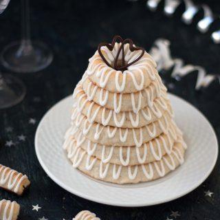 Danish Marzipan Ring Cake with Icing (Kransekage)