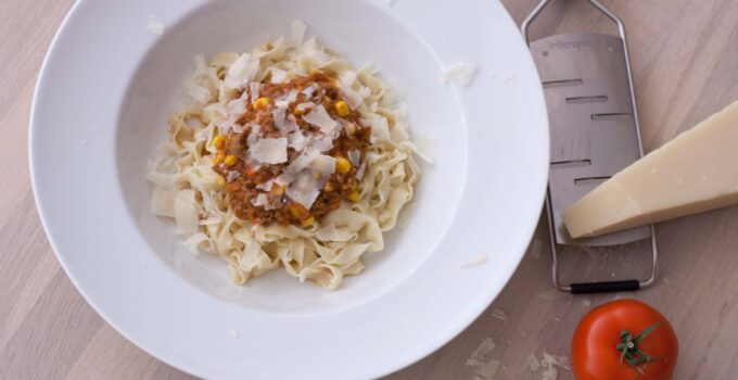 Meat Sauce with Chili and Fresh Pasta