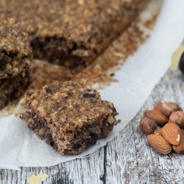 Healthy Banana Cake with Chocolate and Dates
