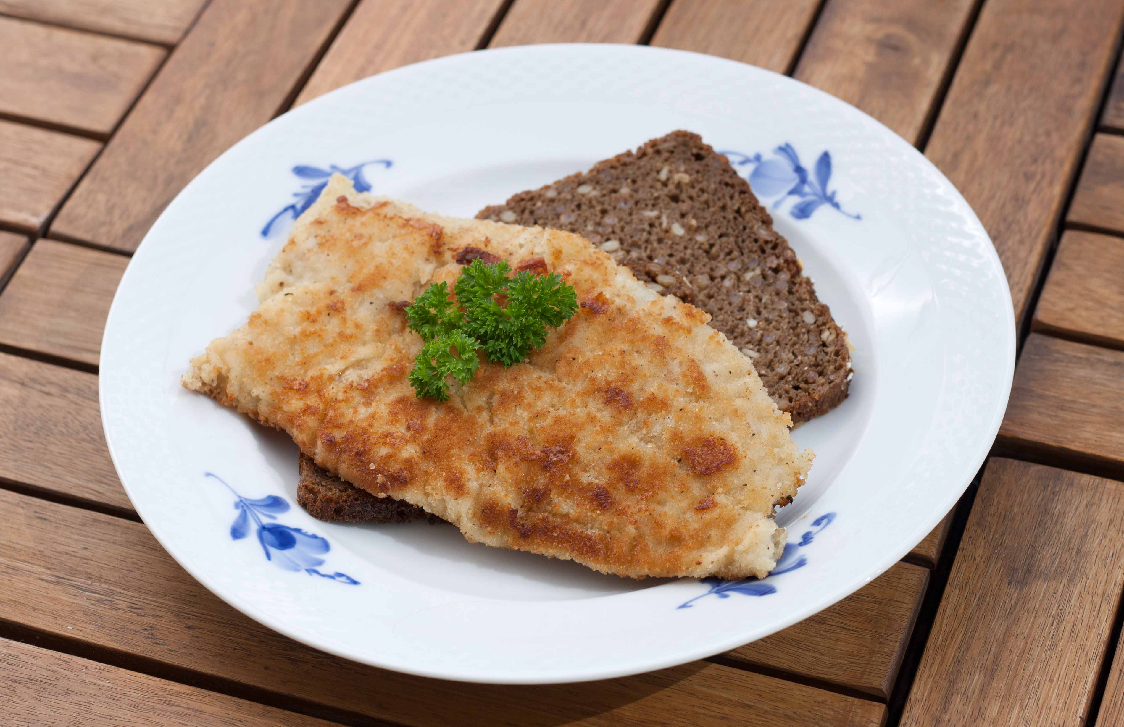 Pan-Fried Coalfish with Rye Bread