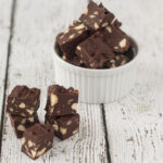 Easy Microwave Chocolate Fudge with Nuts