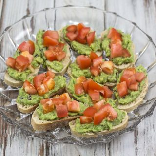 Tomato & Avocado Bruschetta
