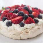 Mini Pavlova with Strawberry and Blueberry