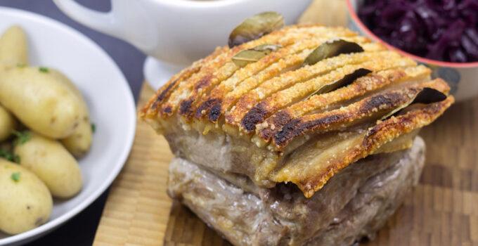 Danish Roast Pork with Crackling (Flæskesteg)