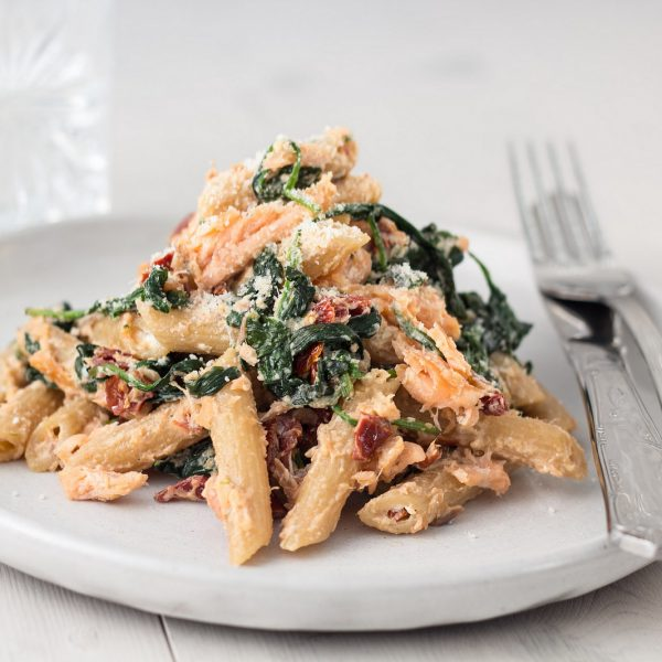 Salmon, Spinach and Ricotta Cheese Pasta