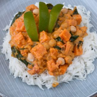 Sweet Potato, Spinach, Chickpea and Coconut Curry