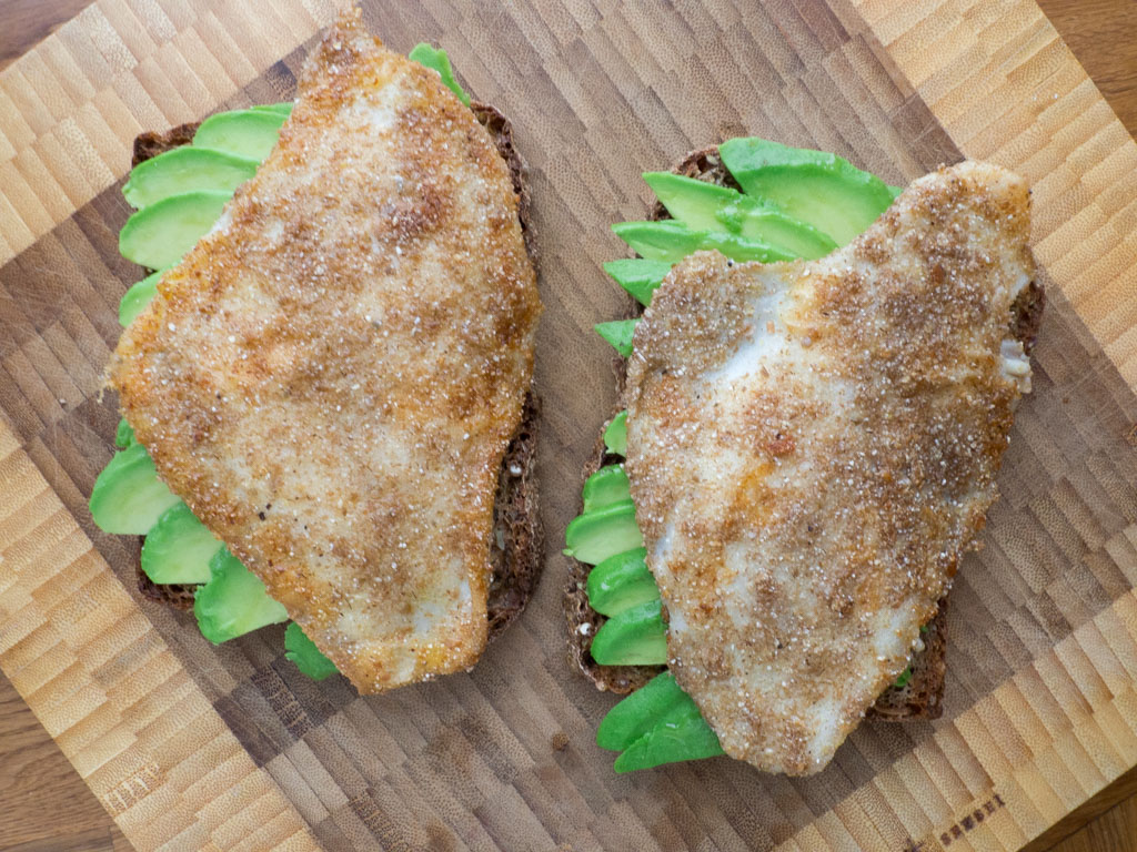 Recipe for Danish Pan-Fried Flounder with Rye Bread