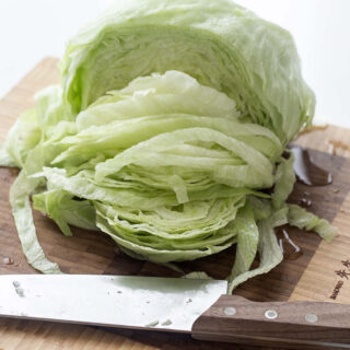 How to clean and cut Iceberg Lettuce the fast way