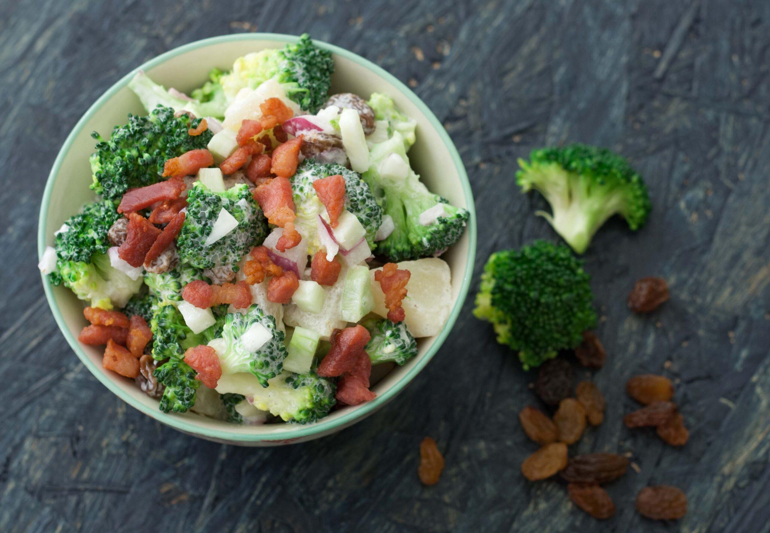 Homemade Danish broccoli salad