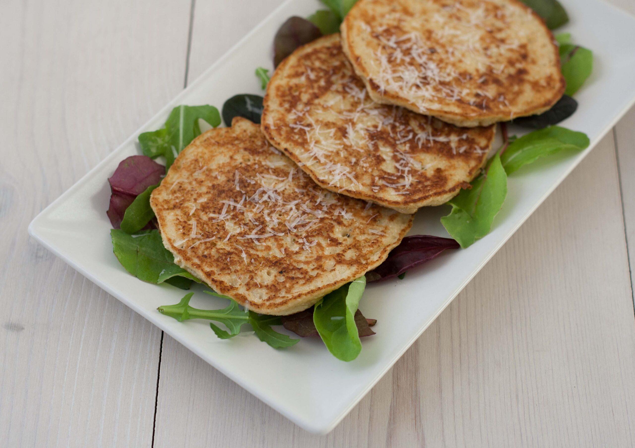 Recipe for Danish Cauliflower Pancakes with Parmesan