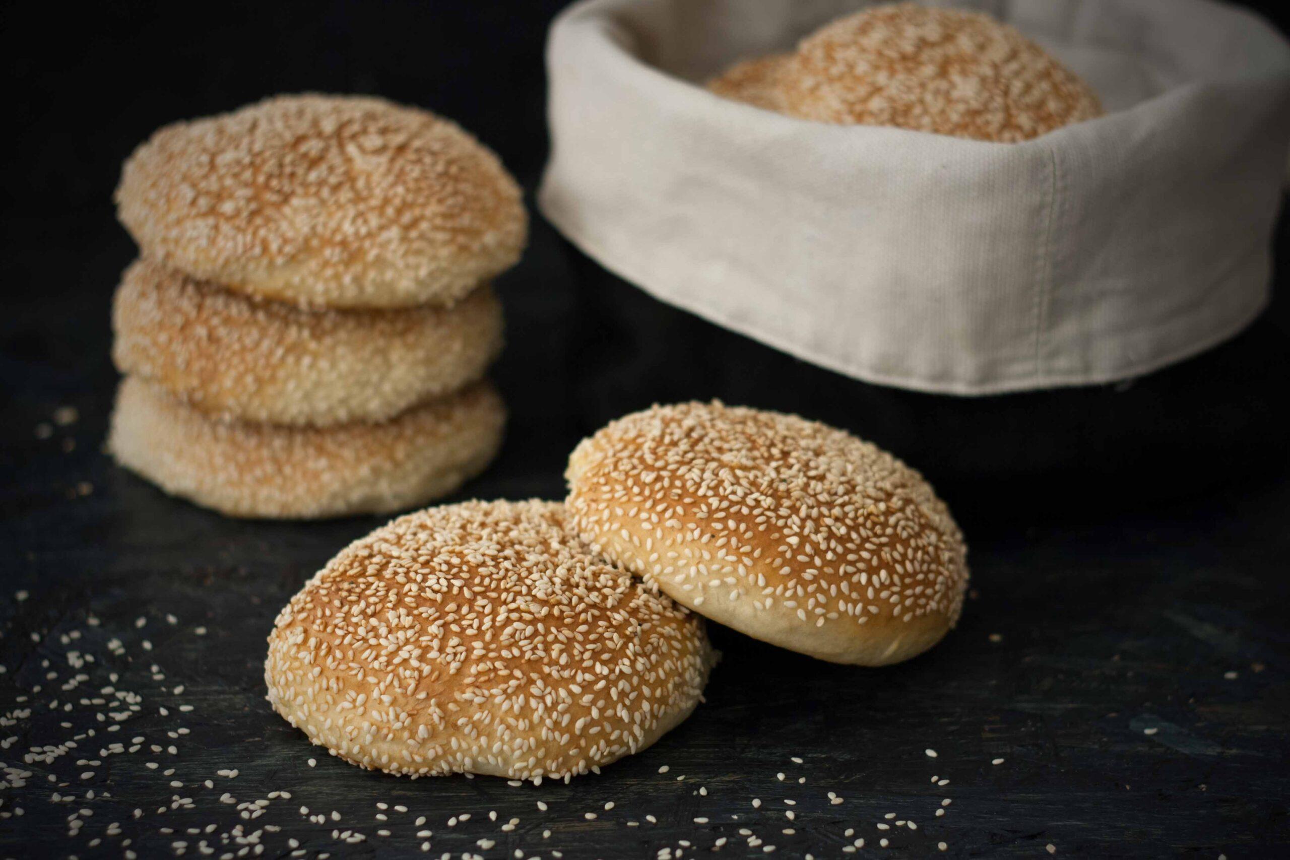 Recipe for homemade burger buns
