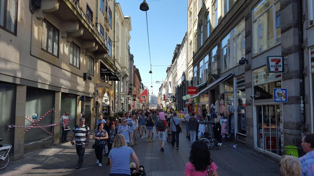 Copenhagen Stroget (pedestrian shopping street