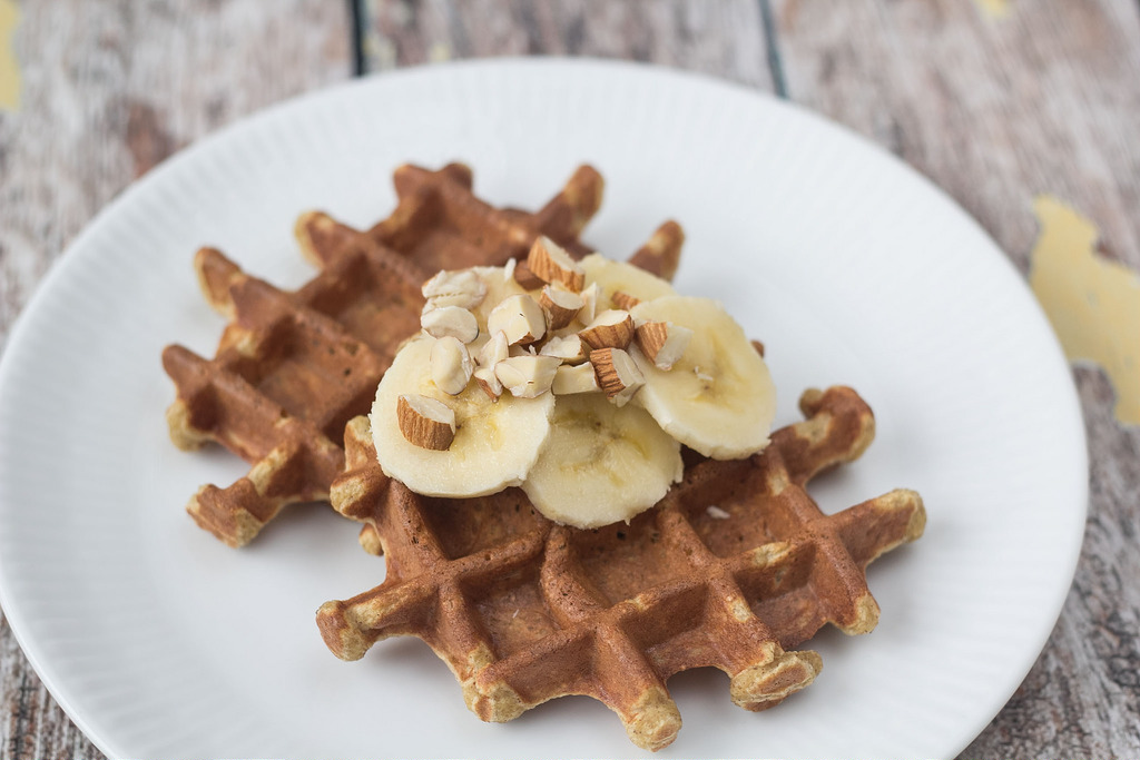 Recipe for Homemade Healthy Banana Waffles