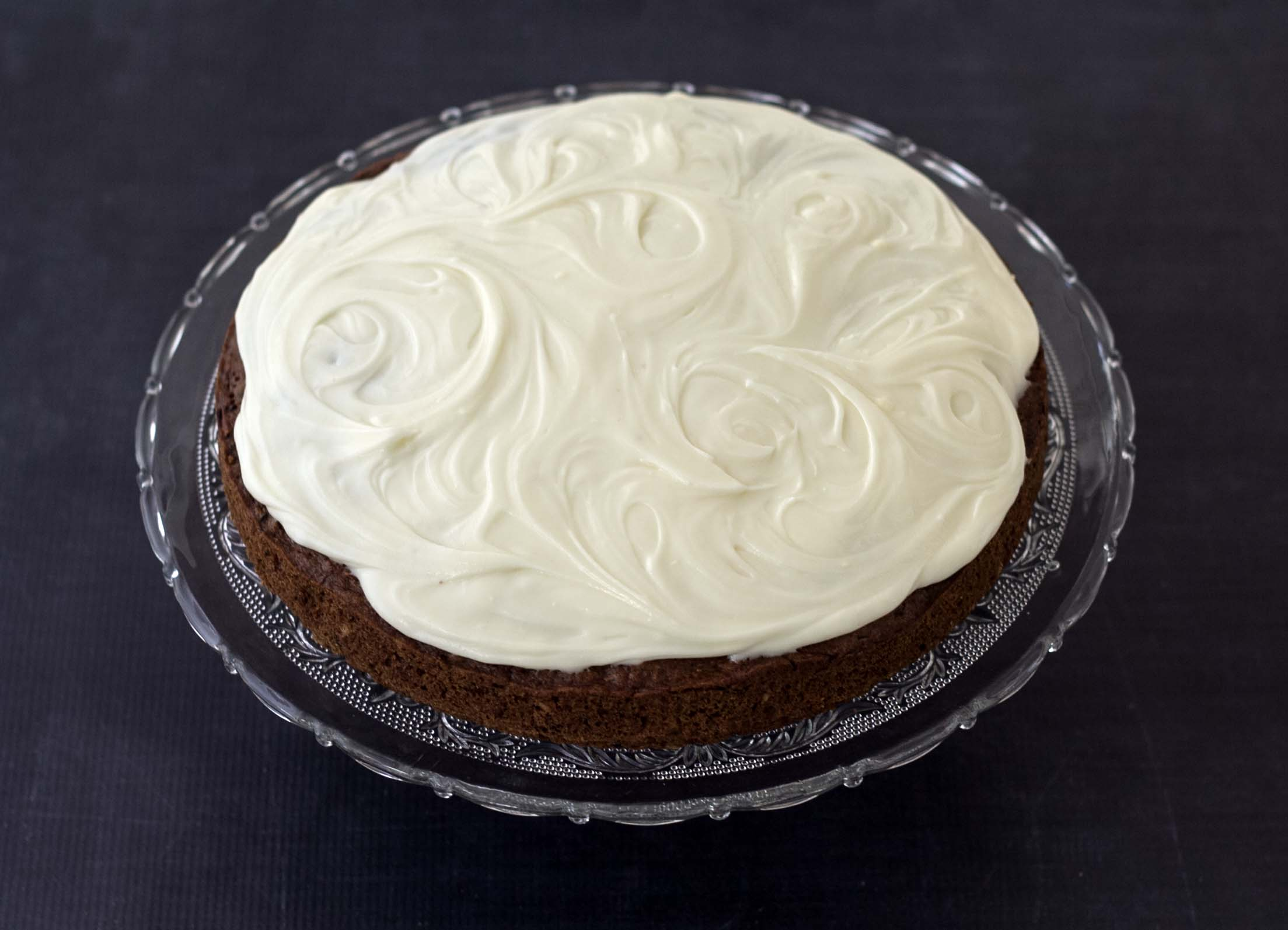 Recipe for Homemade Squash Cake with Nuts and Cheese Topping