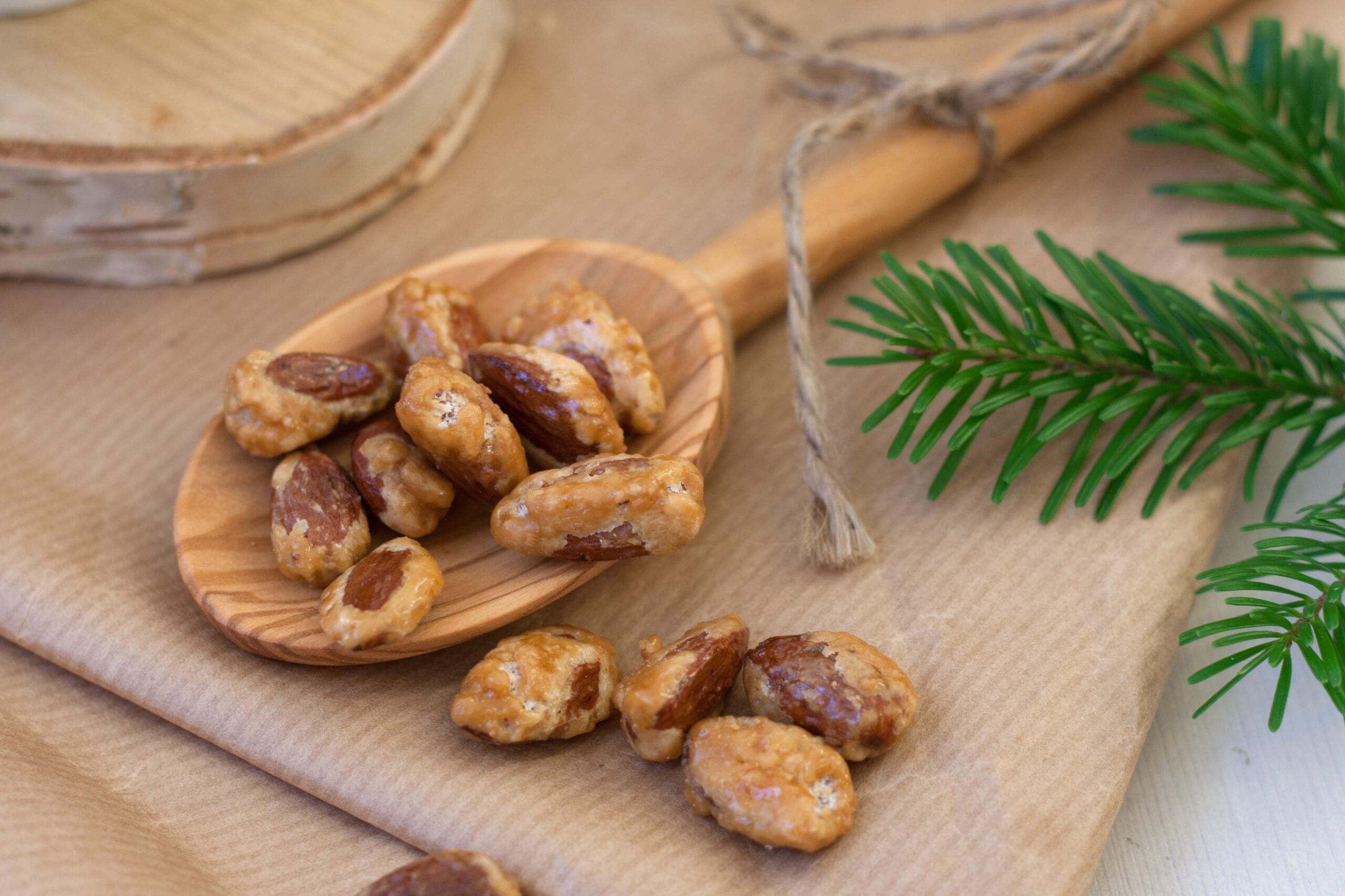 Recipe for homemade Sugar Roasted Almonds for Christmas