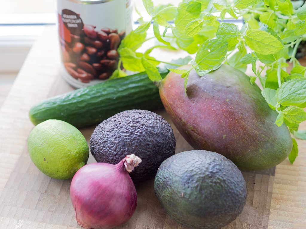 Recipe for Mango Lime Avocado Kidney Beans Salad