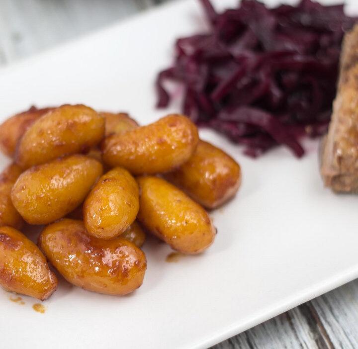 Recipe for Danish Sugar Browned Potatoes (Brunede Kartofler)