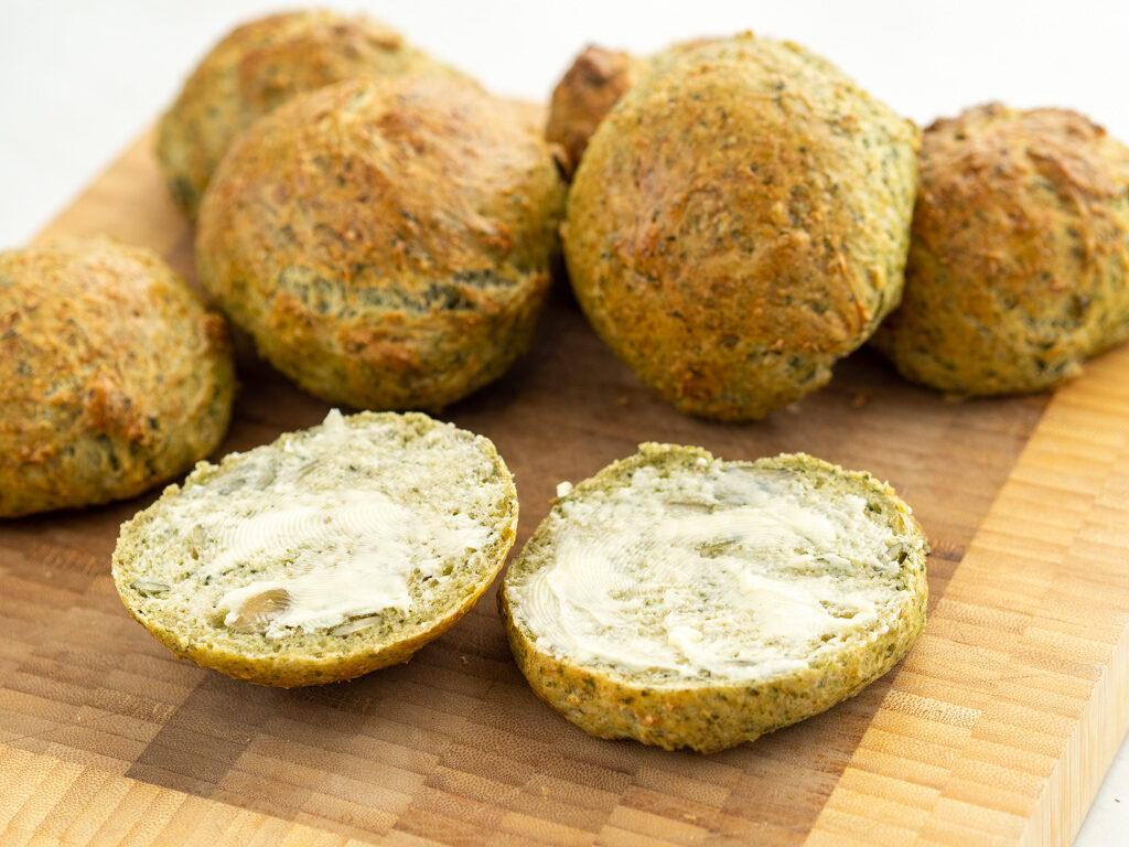 Recipe for Nordic Vegetarian Spinach Buns